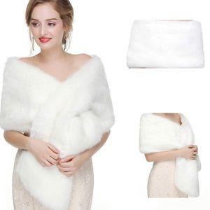 Faux fur bridal/wedding shawl/coat/wrap
